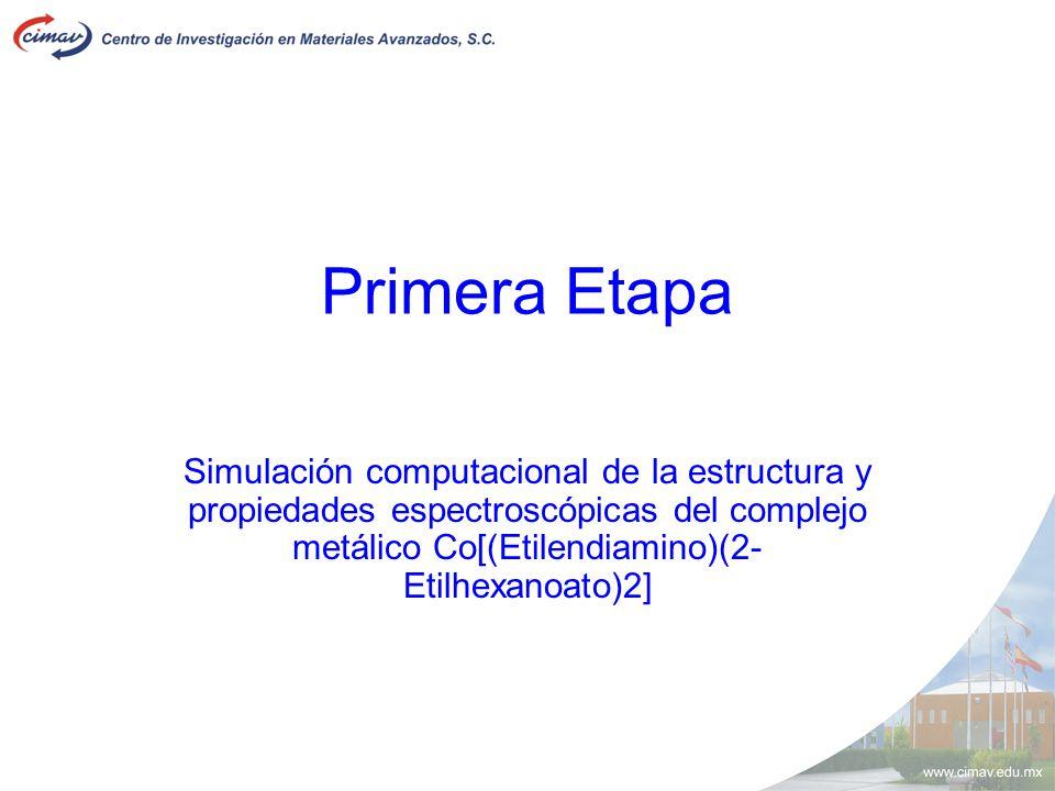Primera Etapa Simulación computacional de la estructura y propiedades espectroscópicas del complejo metálico Co[(Etilendiamino)(2-Etilhexanoato)2]